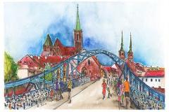 Breslau   Dombrücke   Cathedral bridge