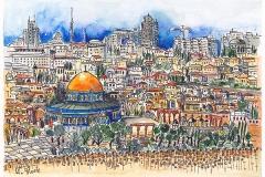 Jerusalem | Blick vom Ölberg | View from the Mount of olives