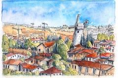 Jerusalem | Monefiore Windmühle | Montefiore windmill