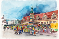 Leipzig | Wochenmarkt vor dem Alten Rathaus |Weekly market in front of the Old Town Hall