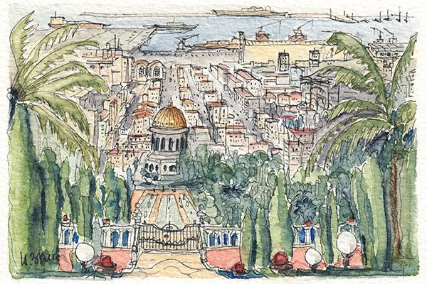 Haifa - Gärten der Bahai